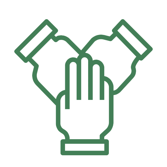 hand volunteer icon green