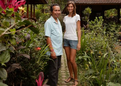 FNPF Friends of the national Parks Bali founder Bayu Wirayudha together with Kathrin David