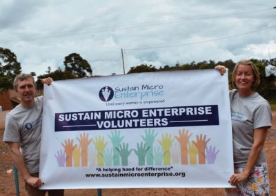 Past volunteers from sustain micro enterprise Uganda
