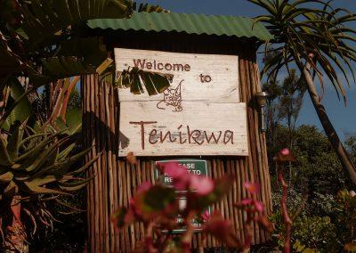 Tenikwa wildlife rehabilitation sanctuary sign entrance