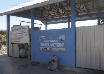 Indonesian waste bank building from outside (bank sampah)