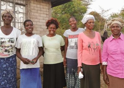 The women of the program Kenia overflow springs of hope