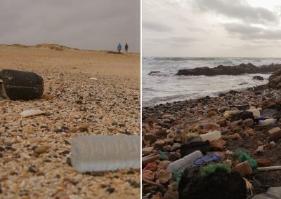 waste on the beach clean up maio