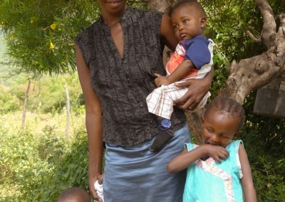 woman with her family overflow spring of hope