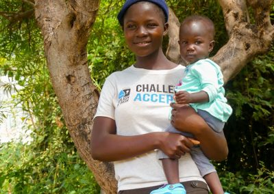 woman with child overflow spring of hope