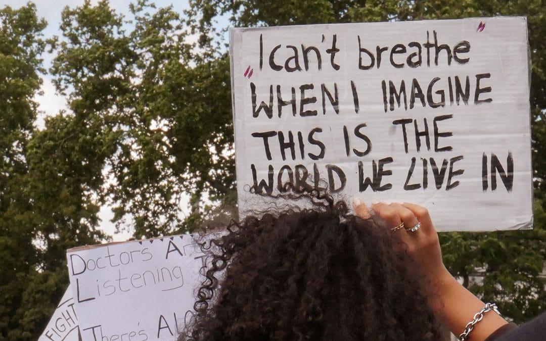 black lives matter demo Rassismus I can't breathe