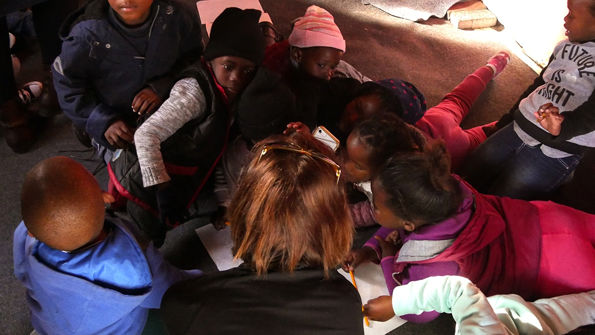problem volunteering helping children protect Black