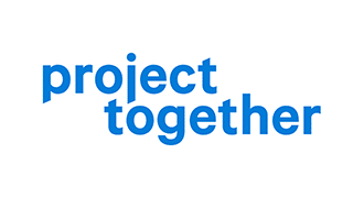 project together logo blau