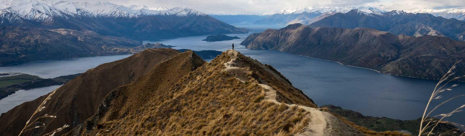 Neuseeland Roys peak nachhaltig reisen bewusst berge See Aussicht