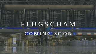 Flugscham Kurs coming soon Hintergrund Flughafen anzeige