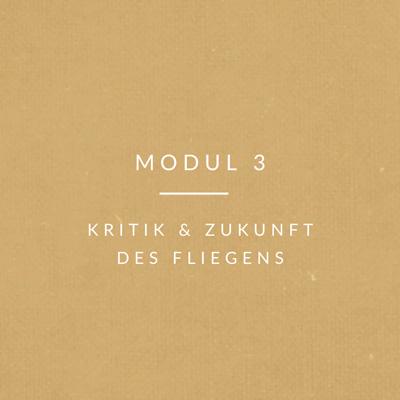 Transport-Modul-3 Kritik und Zukunft des Fliegens
