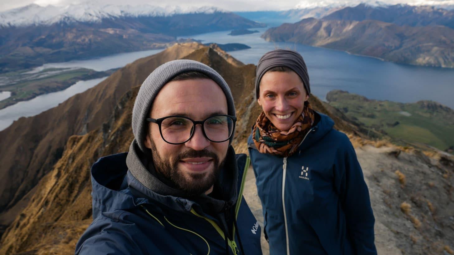 Wojtek-Kathrin-Neuseeland Roys peak